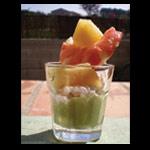Petite verrine crème d'avocat, mousse de crevettes au gingembre et brochette ananas/crevette – Les recettes de Flo