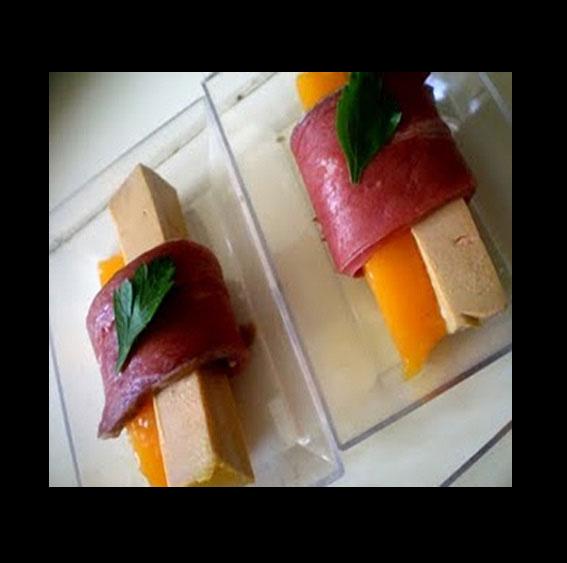 foie gras, mangue, magret séché, les recettes de Flo